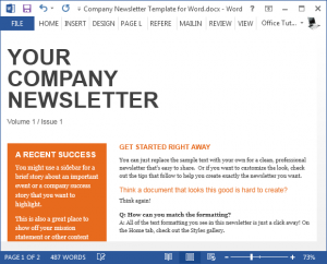 newsletter template word company newsletter template for word