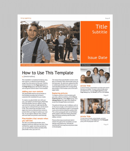 newsletter template word newsletter min