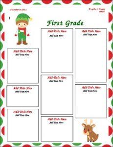 newsletter templates for teachers original