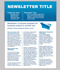 newsletter templates word business newsletter template 2 min
