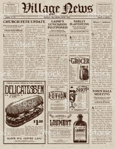 newspaper headline template vintage victorian style newspaper design template vector id