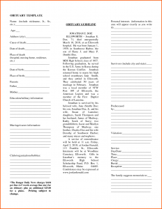 newspaper obituary template newspaper obituary template