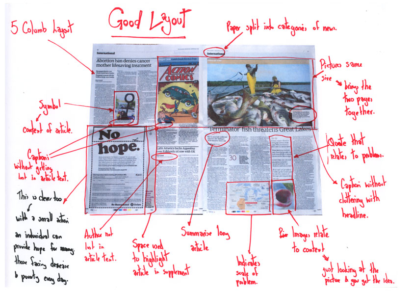 newspaper template for word