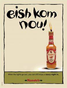 newspaper template for word nandos eskom ad campaign