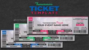 newspaper template for word ticket template