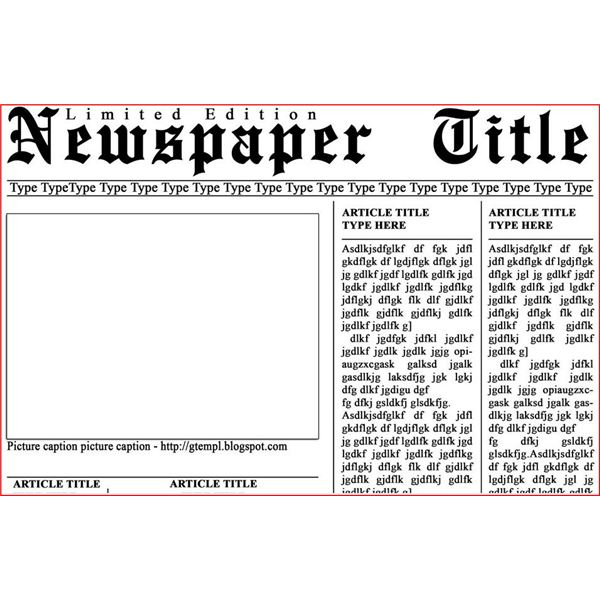 newspaper template free