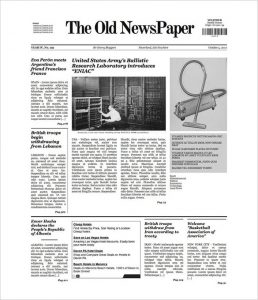 newspaper template free the old newspaper wp v free