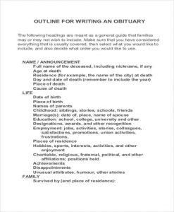 newspaper template pdf obituary wording sample