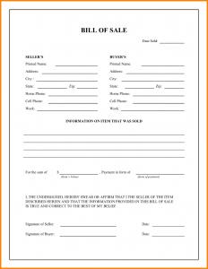 newspaper template word general bill of sale form