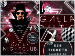night club flier gallax nightclub flyer template