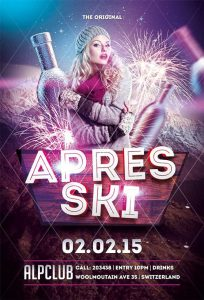 nite club flyers apres ski winter flyer template awesomeflyer