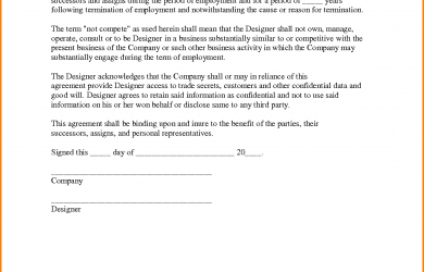 non compete agreement template non compete agreement sample