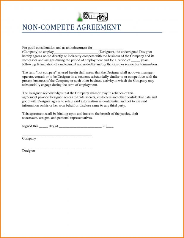 Non Compete Agreement Template  Template Business