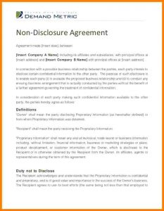non disclosure agreement form non disclosure agreement form non disclosure agreement template cb