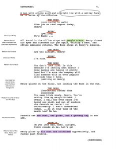 non disclosure agreement form shot script