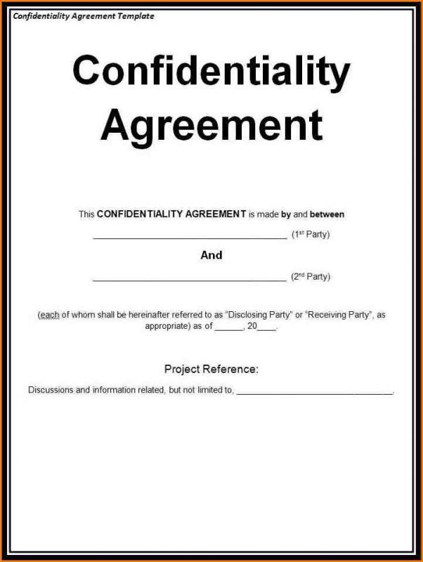 Confidential Agreement Sample Underntanacountryinn