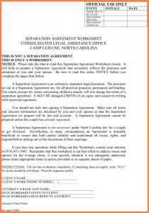 non disclosure form notarized separation agreement massachusetts north carolina separation agreement template