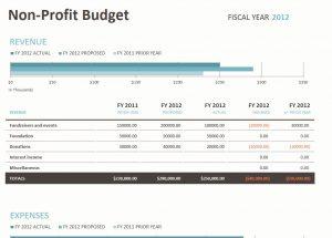 non profit budget non profit budget template