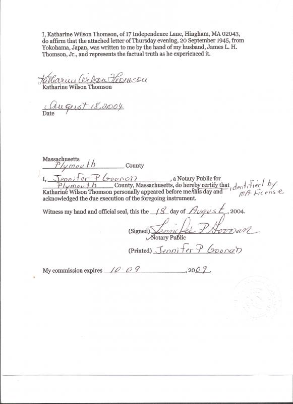 notarized letter of residency