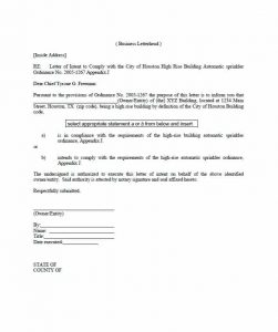 notarized letter sample notarized letter template
