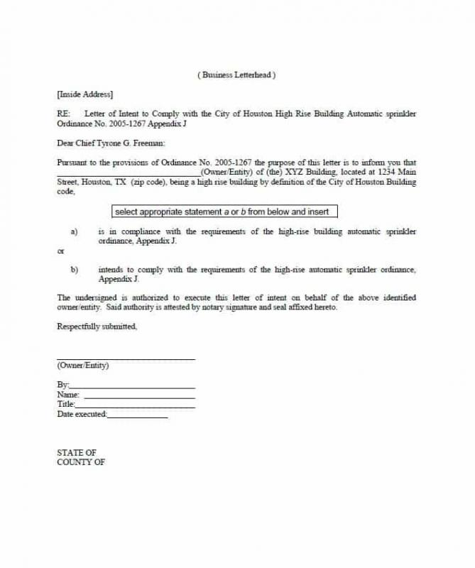 notarized letter sample