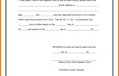 notary document sample sample notary form notary public document sample notary public template