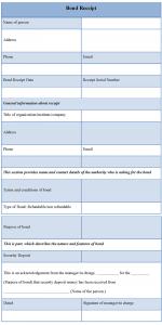 notary letter templates bond receipt template