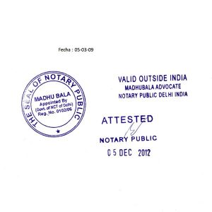 notary signature format notary attestation services in india service image