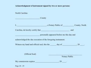 notary signature template notary public class