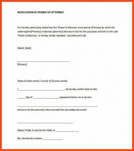 notary signature template notary signature format revocation of power of attorney notarized letter word format