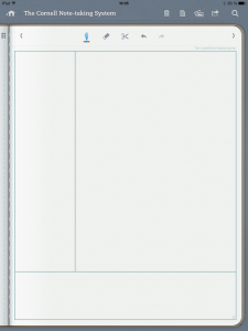 note taking template cornell notetaking system screenshot