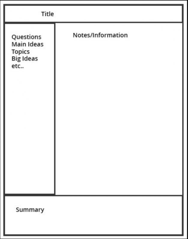 note taking template