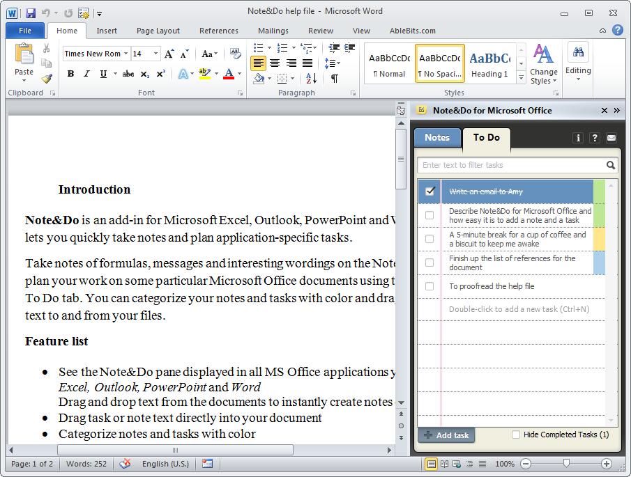 Note Taking Template Word  Microsoft Word Note Taking Template