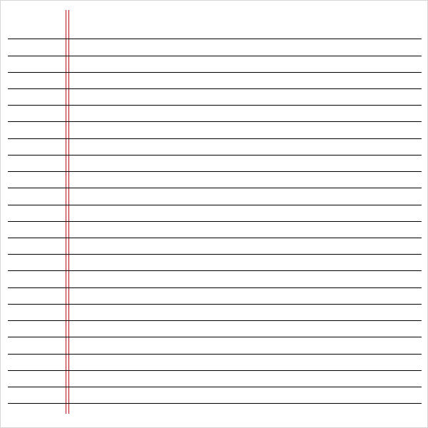 Notebook Paper Pdf  Template Business