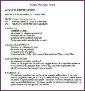 notice to vacate form after action report template after action report sample