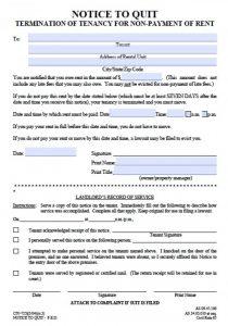 notice to vacate form alaska eviction notice days civ x