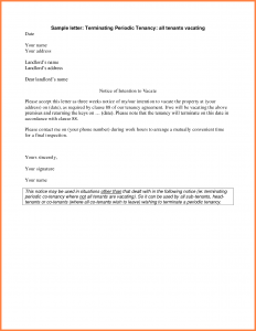 notice to vacate form rental notice template landlord notice to tenant to vacate letter