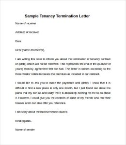 notice to vacate letter from landlord to tenant simple notice to vacate letter