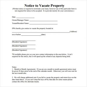 Notice To Vacate Template Free Eviction Notice Templates Excel Pdf Formats  In Template Notice To Vacate  Notice To Vacate Property Template
