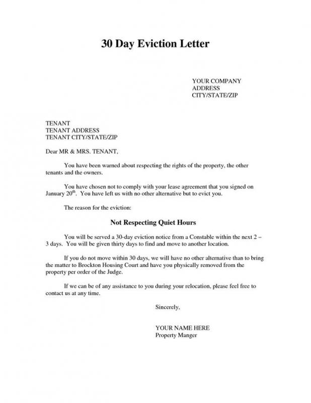 lease termination notice letter