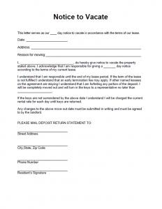 notice to vacate vacate notice 904