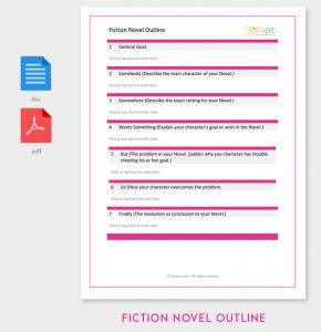 novel outline example fiction novel outline template