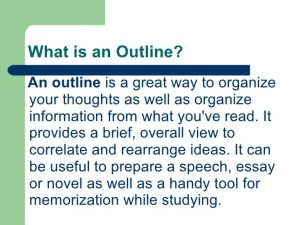 novel outline example how to write an outline