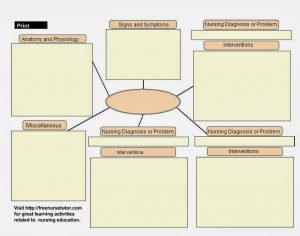 nursing concept map template blank concept maps