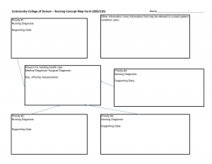 nursing concept map template blank nursing concept map template