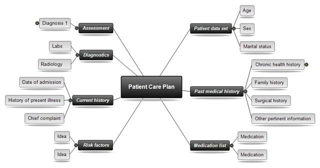 nursing concept map template