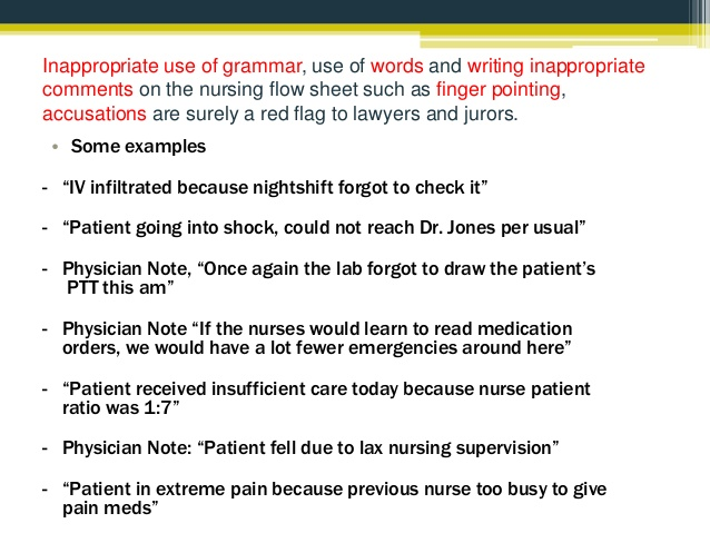nursing notes examples