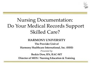 nursing notes examples nursing documentation do your medical records support skilled care