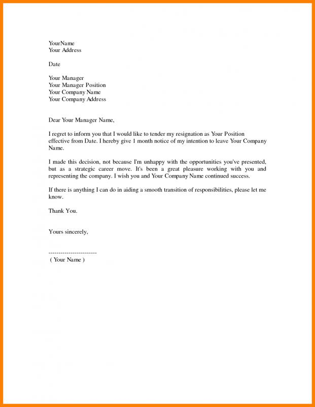 Nursing Resignation Letter  Template Business