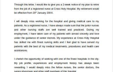 nursing student resume examples nursing retirement letter